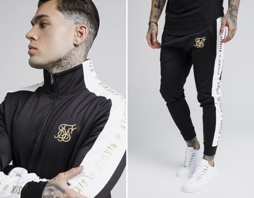 Quarter Zip Runner Tracksuit by Sik Silk