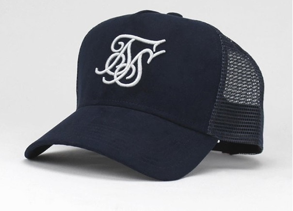 Suede Bent Peak Trucker Cap by Sik Silk