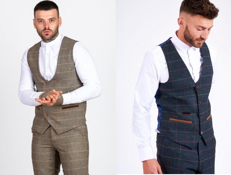 Heritage Tweed Waistcoats by Marc Darcy