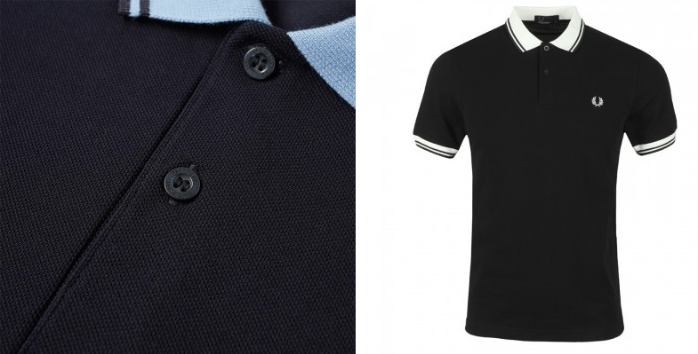 Contrast Rib Polo Shirts by Fred Perry