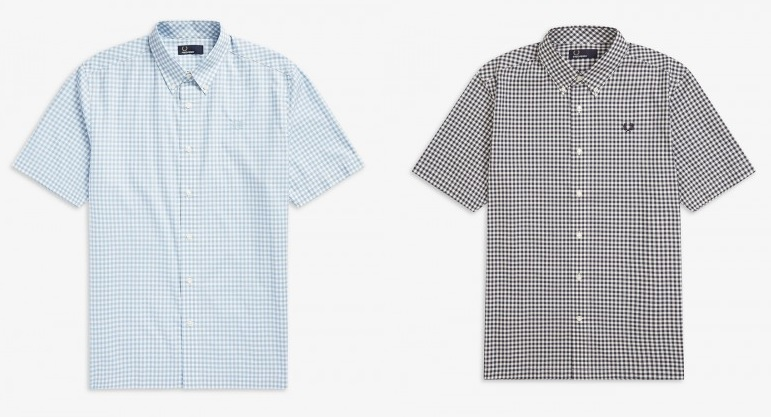 Two Colour Gingham Shirt by Fred Perry