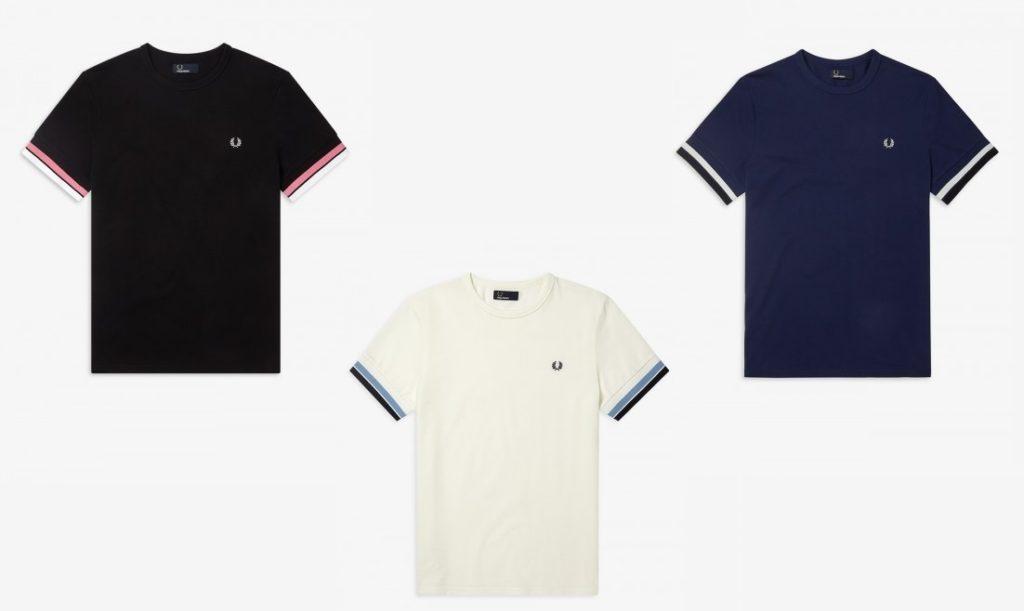M6513 Bold Tipped T Shirts by Fred Perry