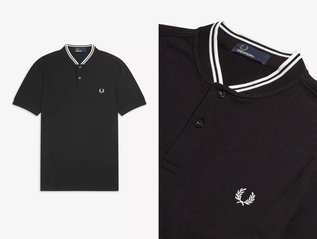 M4526 Bomber Collar Pique Polo by Fred Perry in Black