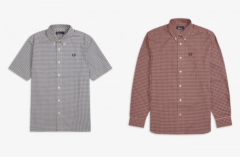 Two Colour Gingham Shirts by Fred Perry