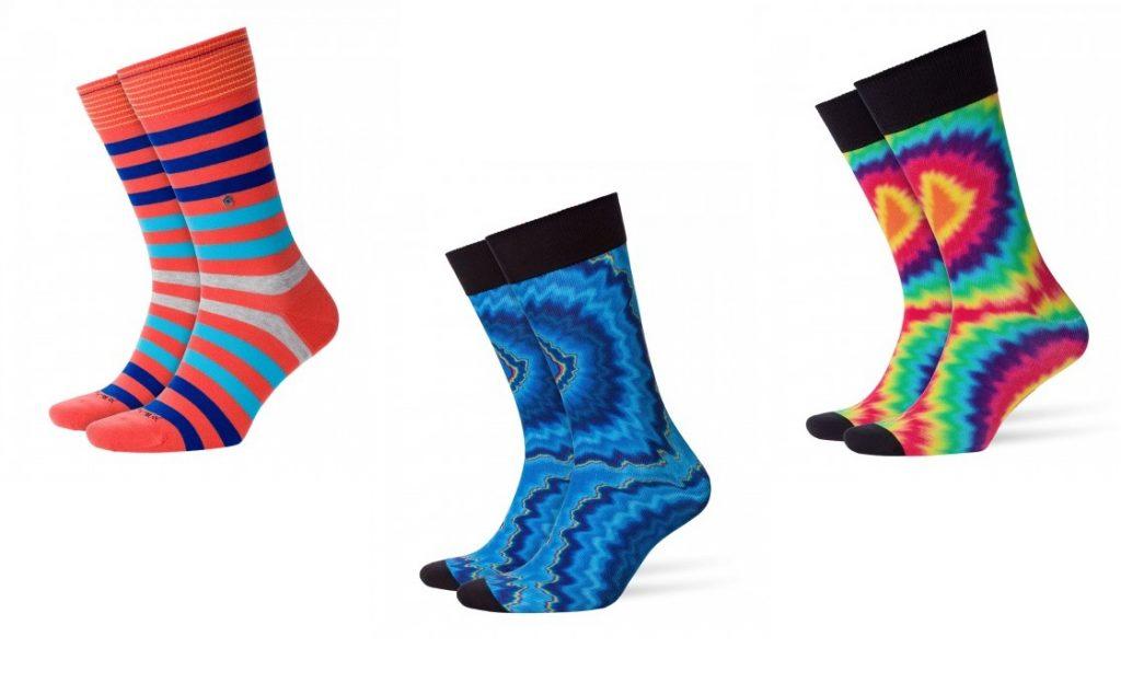 """Blackpool"" Stripe Socks and ""Hippie guy"" Socks by Burlington"