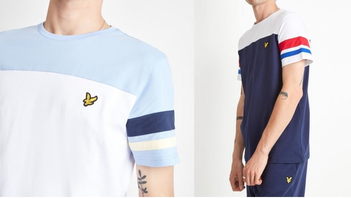 Contrast Band T Shirt by Lyle and Scott