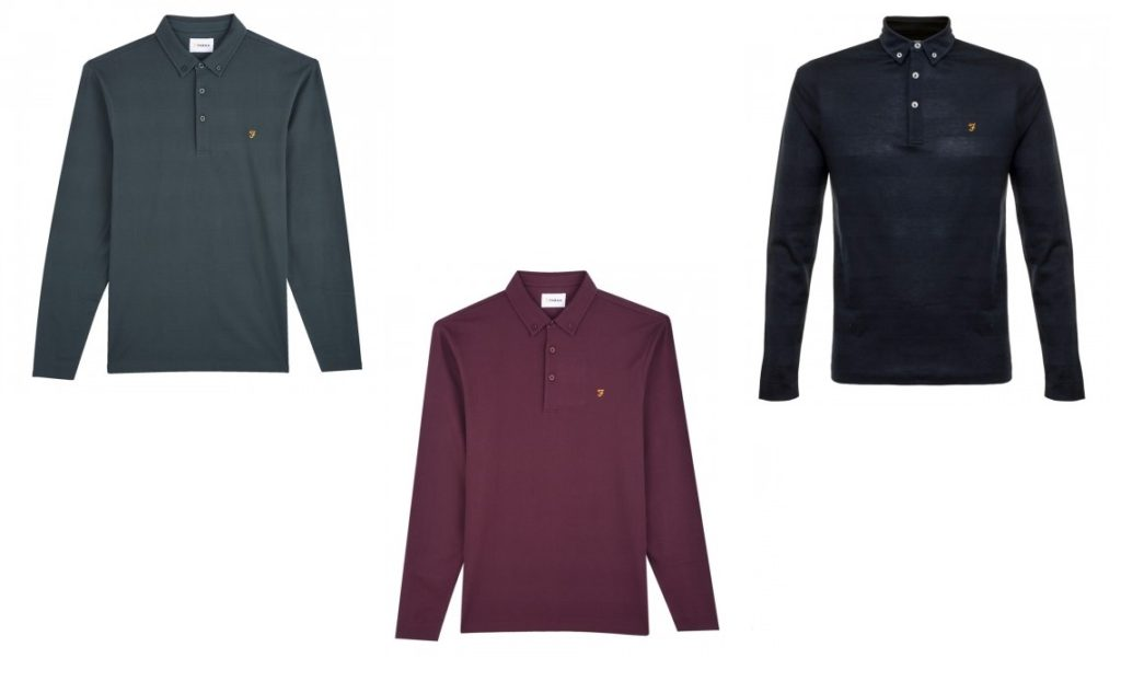 Stapleton Long Sleeve Polo by Farah