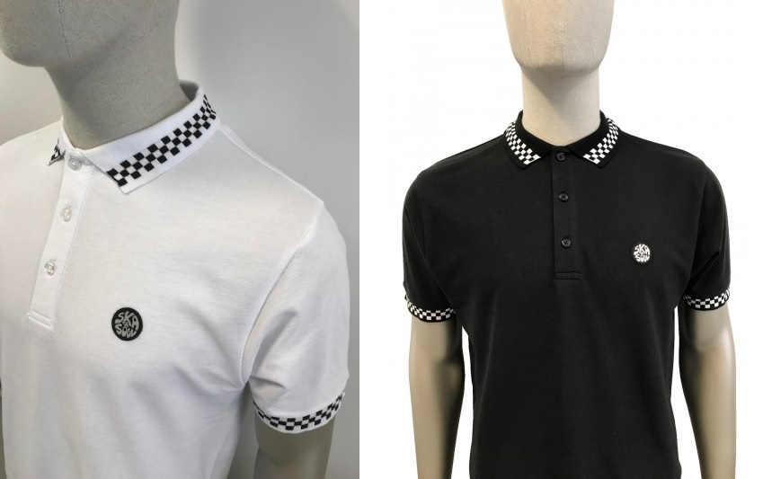 Chequerboard Stripe Polo Shirt by Ska and Soul