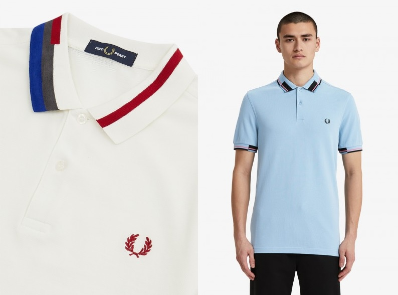 Abstract Collar Polo Shirt by Fred Perry