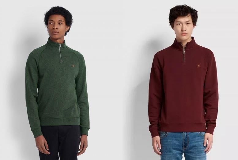 Jim 1/4 Zip Sweatshirts by Farah