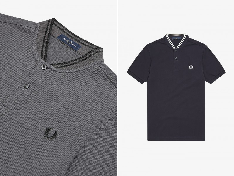 Bomber Collar Pique Polo by Fred Perry