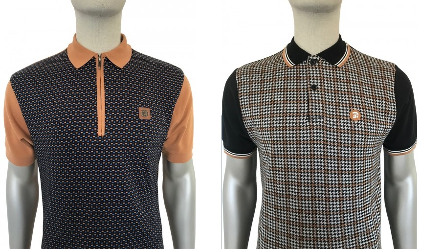 Jacquard Dot Polo & Houndstooth Polo by Trojan