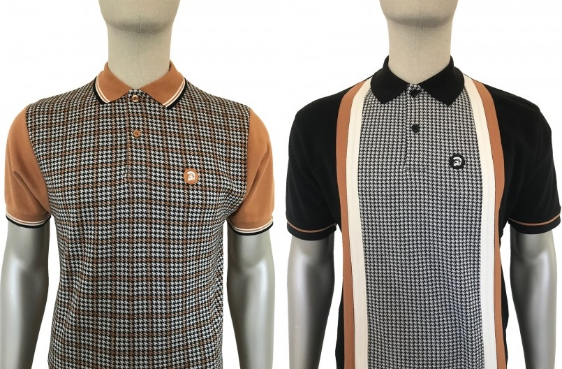 Houndstooth Front Polo and Cut & Sewn Houndstooth Polo