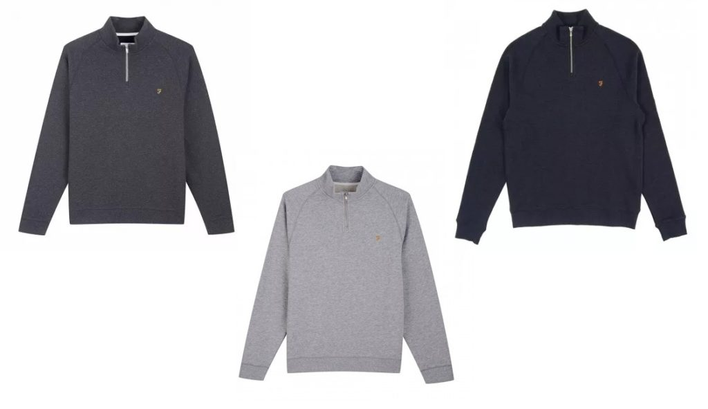 Jim 1/4 Zip Sweatshirt by Farah