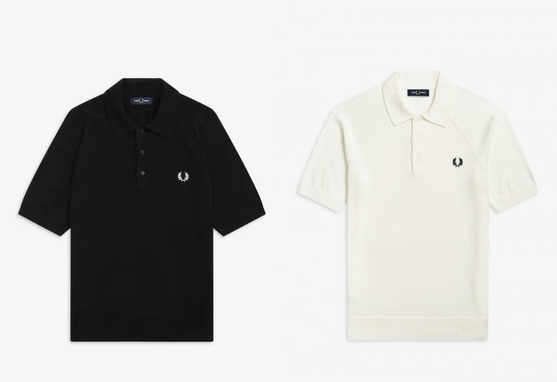 Contrast Texture Knitted Polo by Fred Perry