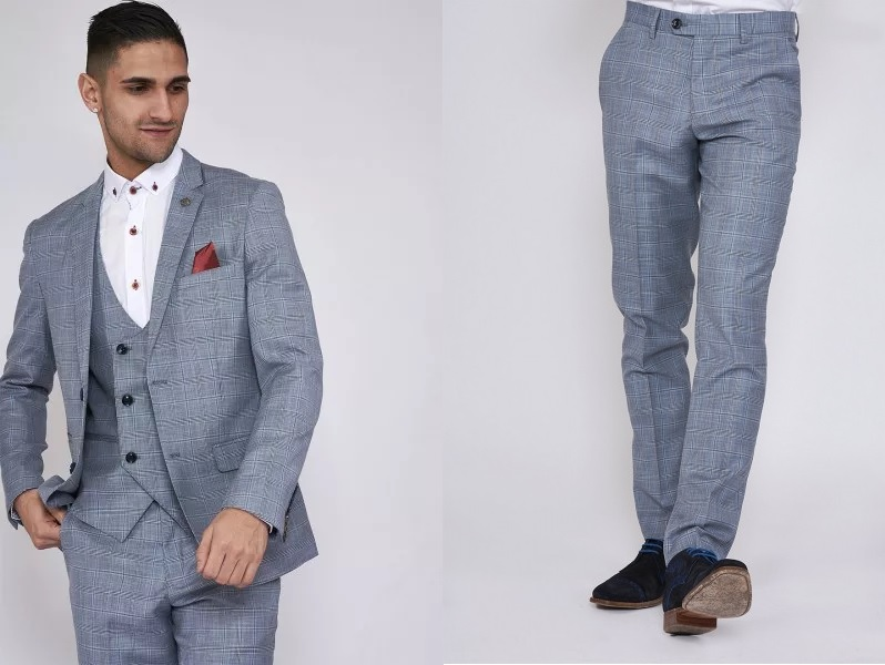 York Check Blazer (£125) & Trousers (£55) by Marc Darcy