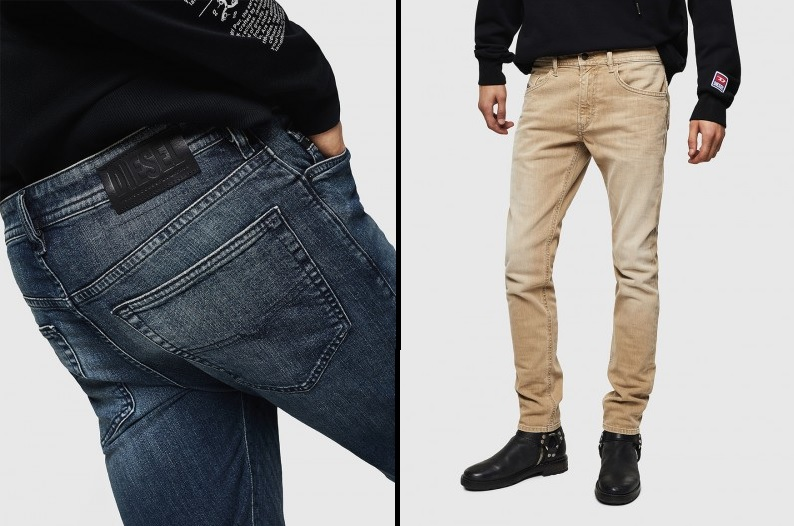 Semi Taped & Slim Jeans by Diesel -- From £120
