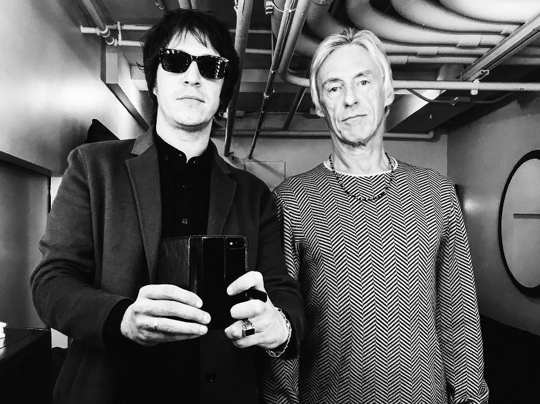 Andy Crofts with Paul Weller. Music, interview Apache menswear
