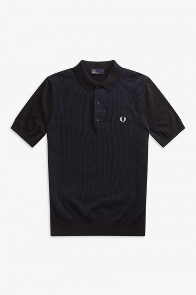 K5512 Two Colour Knitted Polo