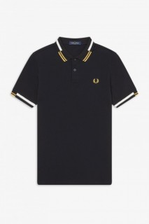 M8551 Abstract Tipped Polo Shirt