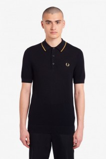 K9560 Tipped Knitted Polo Shirt