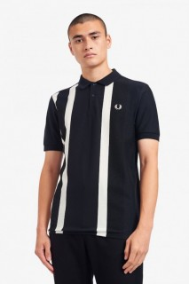 M1620 Striped Pique Polo Shirt