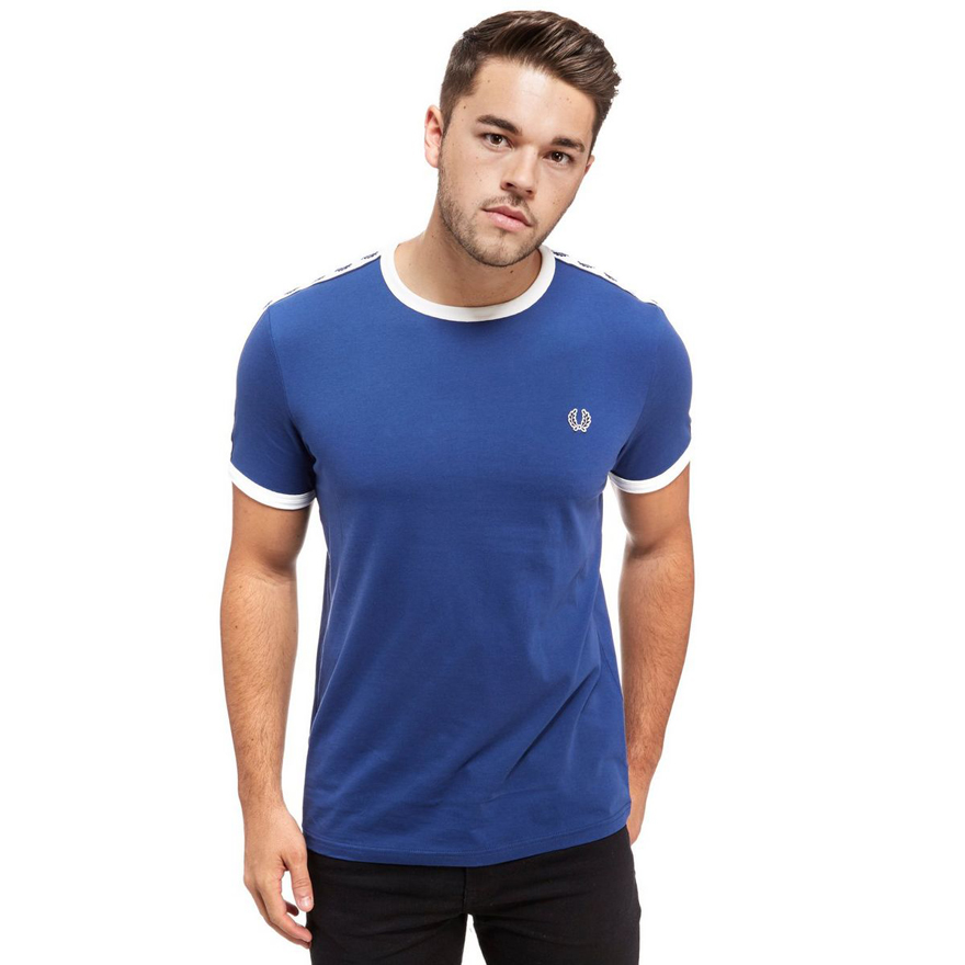 fred perry m6347 taped ringer t shirt t shirts from. Black Bedroom Furniture Sets. Home Design Ideas