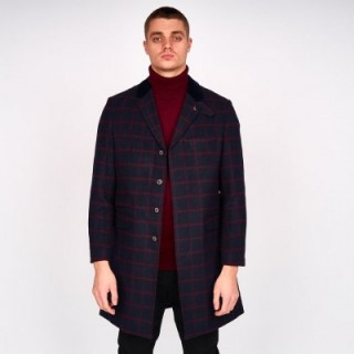 M43MJ11 Check Overcoat