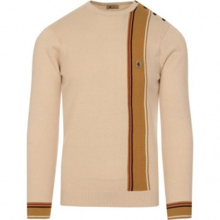 V45GM13 Smithy Stripe Button Neck Jumper