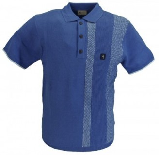V44GM03 Cariboo Texture Panel Knit Polo
