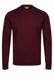 V44GK08 Francesco Long Sleeve Knit Polo