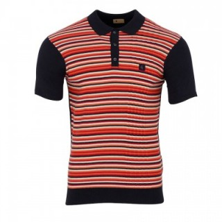 V44GM07 Steptoe Stripe Knit Polo