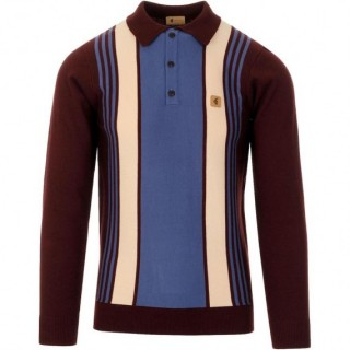 V45GM00 Searle Panel Stripe Knit Polo
