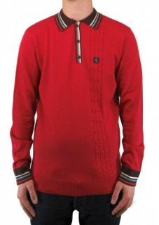 V45GM05 Turney Cable Panel Knit Polo