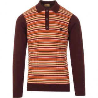 V45GM08 Stratus Multi Stripe Knit Polo