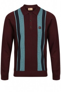 V45GM06 Croxted Texture Panel Knit Polo