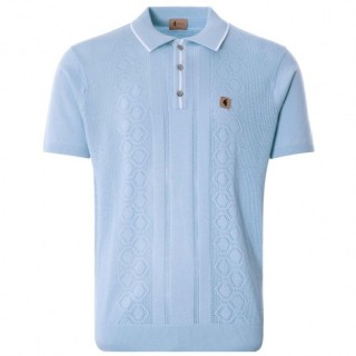 V46GM05 Bronson Textured Knit Polo