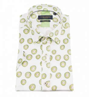 HS2296 Short Sleeve Lime Print Shirt