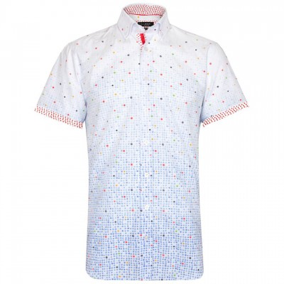 Garrod Short Sleeve Faded Floral Shirt