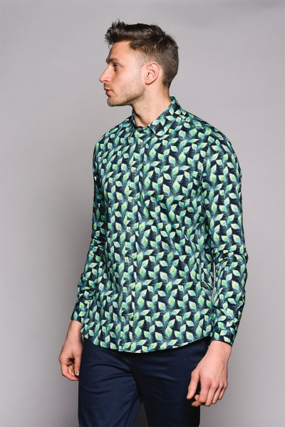 Pellie Peacock Feather Shirt