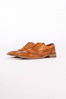 Larkin Tan Leather Brogue Shoe