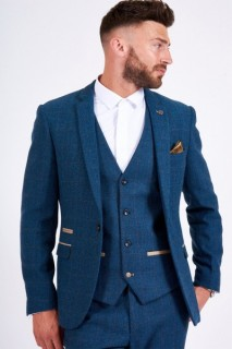 Dion Vintage Tweed Check Blazer