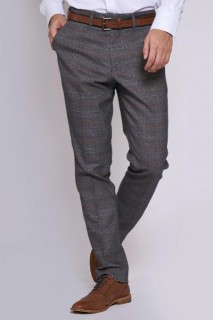 Jenson Grey Tan Check Trouser