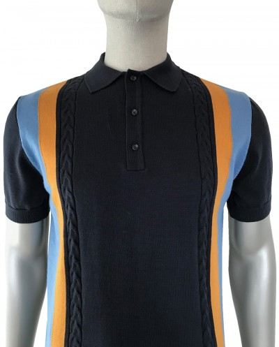 SS2251 Cable Front Knitted Polo