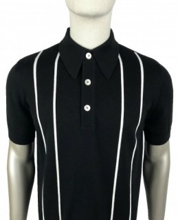 SS2352 Mono Stripe Knitted Polo