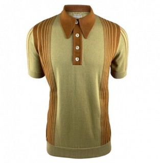SS2375 Border Stripe Knitted Polo