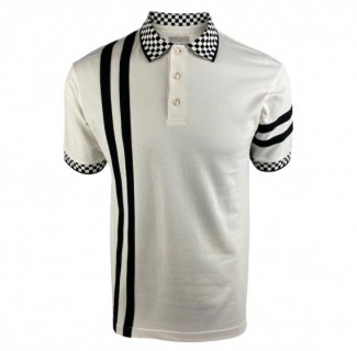SS2416 Twin Stripe Chequerboard Polo