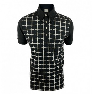 SS2417 Jacquard Check Panel Polo