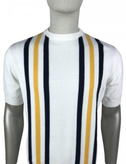 SS2351 Stripe Front Knitted T Shirt