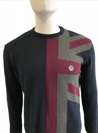 TR8359 Union Jack Knit Navy